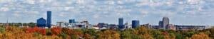 View of the Grand Rapids Michigan skyline